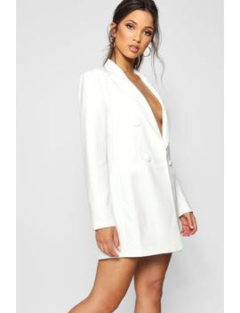 Ella Double Breasted Power Shoulder Dress by Boohoo