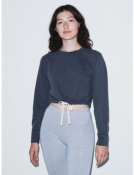 French Terry Cord Sweatshirt by American Apparel