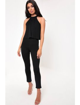 Black Ruffle Jumpsuit by I Saw It First