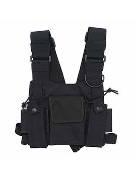 Good Qbuy® Universal Radio Harness Chest Rig Bag Pocket Pack Holster Vest For Two Way Radio (Rescue Essentials) by Amazon