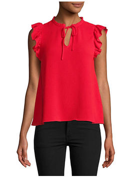ruffle-trimmed-blouse by highline-collective