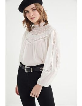 Uo Maggie Mock Neck Top by Urban Outfitters