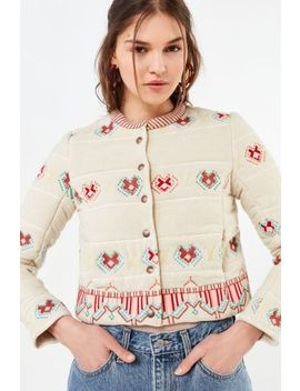 Uo Embroidered Bolero Jacket by Urban Outfitters