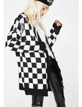 Square Me Up Checkered Cardigan by Current Mood