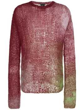 Ann Demeulemeestermulticolour Mohair Knitted Jumperhome Men Ann Demeulemeester Clothing Knitted Sweaters by Ann Demeulemeester