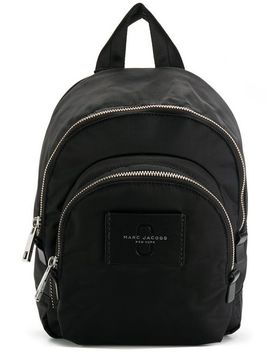 Marc Jacobsdouble Zip Backpackhome Women Marc Jacobs Bags Shoulder Bagsshort Sleeved Striped Sweatshirtknit Pencil Skirtdouble Zip Backpack by Marc Jacobs