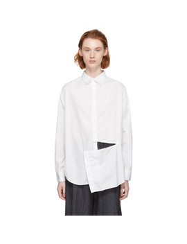 White Slash Shirt by Y's
