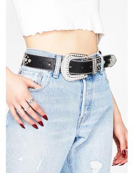 Like To Pony Jeweled Belt by Illuma Fashion