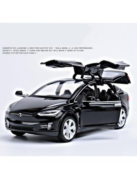 1:32 Alloy Pull Back Car Toys, High Imitation Tesla Model X90, 4 Open Door Music &Flash& Toy Vehicles, Wholesale by Hangjue