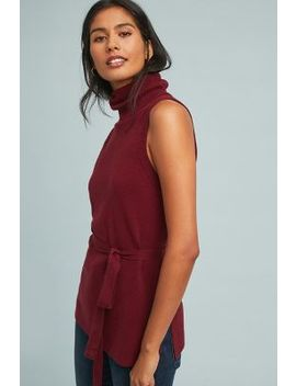 Belted Sleeveless Turtleneck by Anthropologie