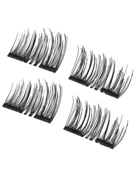 4 Pcs/Set Lightweight Natural Thick Eye Lashes 3 D Magnetic False Eyelashes by Face