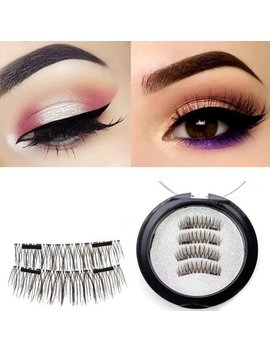 Asavea Extra Long Magnetic False Eyelashes, 1 Pair (4 Piece) Natural Handmade Extension Ultra Thin Fake Magnetic Lashes No Glue by Asavea