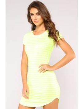 Neon Dreams Dress   Neon Lime by Fashion Nova