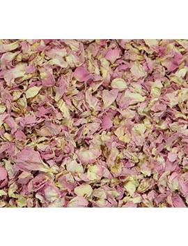 Stripey Finds 1 Litre Natural Petal Confetti   Biodegradable   Many Colour, Type And Mix Options Available (10 Pastel Pink) by Stripey Finds