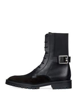 Aviator Leather/Suede Ankle Boot by Givenchy