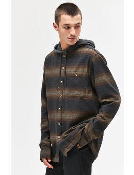Baja Hooded Flannel Long Sleeve Button Up Shirt by Billabong