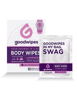 Good Wipes Women's Deodorizing Body Biodegradable Wipes, Lavender, With Naturally Soothing Tea Tree And Aloe, Hypoallergenic For Travel, Never Sticky, No Residue, No Dry Skin... by Good Wipes