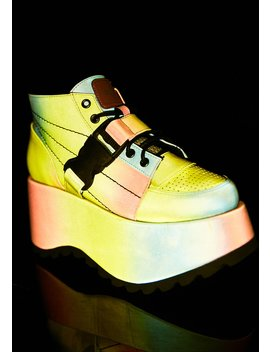 Globe Reflective Platform Sneakers by Esqape