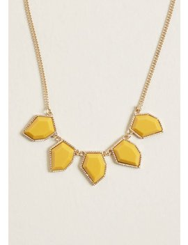 Notice Taken Statement Necklace In Mustard by Modcloth