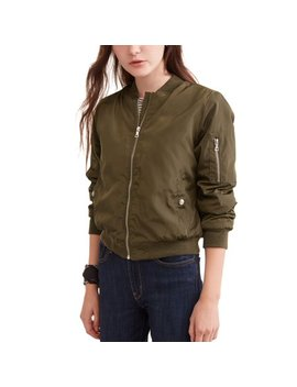 New Look Juniors' Basic Zip Bomber Jacket by New Look