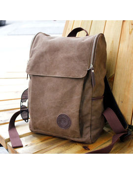 Men's Vintage Canvas Backpack Rucksack Shoulder Travel Camping Bag Satchel New by Yoomall