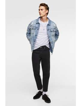 Ripped Denim Jacket With Side Taping  View All Jackets Man by Zara