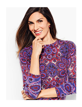 Audrey Cashmere Sweater   Paisley by Talbots