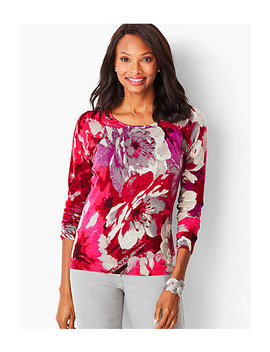 Perfect Merino Sweater   Floral Print by Talbots