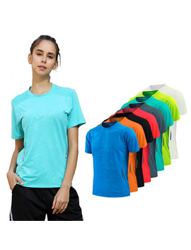 Yoga Running Shirt Women Quick Dry Compression Tights T Shirt Women Fitness Training Sports Woman Compression Short Sleeves by Kacigeya