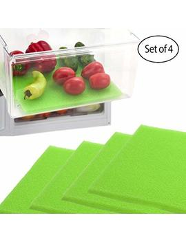 "Dualplex Fruit And Veggie Life Extender Liner For Refrigerator Drawers, Extends The Life Of Your Produce And Prevents Spoilage, 12"" L X 15"" H, Pack Of 4 by Dualplex"