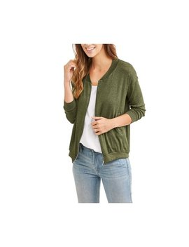 Women's Knit Bomber Jacket by Thyme & Honey