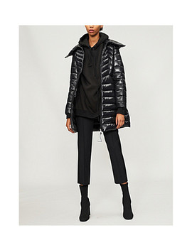 Quilted Shell And Down Blend Coat by Moncler