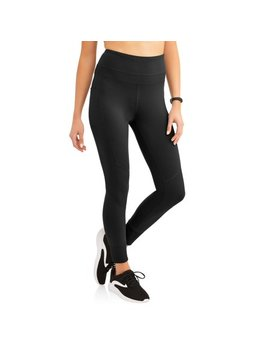 Women's Active Performance Mix Ribbed Performance Crop Legging With Media Pocket by Avia