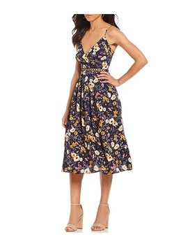 Floral Print Fit And Flare Prairie Midi Dress by Generic