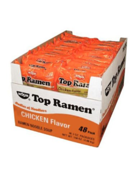 Great Value!!!! Nissin Top Ramen, Chicken Flavor (3 Oz. Ea, 48 Ct.) 2 Pack by Ebay Seller