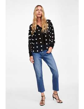 Contrasting Polka Dot Blouse  New Inwoman by Zara