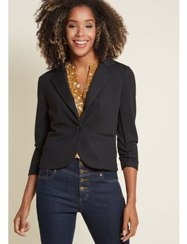 Topped With Texture Blazer by Modcloth