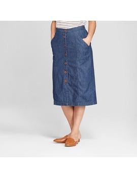 Women's Button Front Midi Skirt  Universal Thread™ Medium Wash by Shop All Universal Thread™