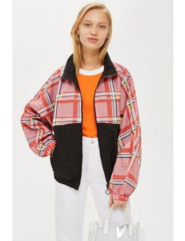 Petite Check Windbreaker Jacket by Topshop