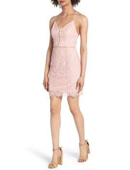 lattice-lace-body-con-dress by soprano