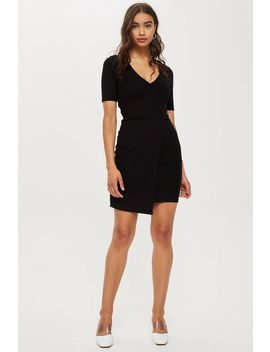 Tall V Neck Wrap Dress by Topshop
