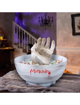 Gemmy Animated Mummy Hand Candy Bowl Halloween Decoration by Halloween
