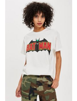Batman Logo Boyfriend T Shirt By And Finally by Topshop