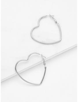 Open Heart Design Drop Earrings by Romwe