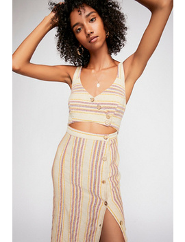 Striped Ultraviolet Midi Dress by Free People