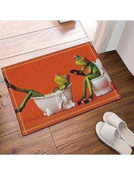 Go Hebe One Frog Sit On Toilet The Girl Frog In The Bathtub For Kids Bath Rugs Non Slip Doormat Floor Entryways Outdoor Indoor Front Door Mat Kids Bath Mat 15.7x23.6in Bathroom Accessories by Go Hebe