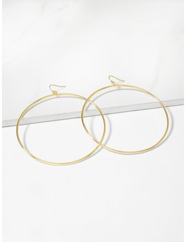Simple Circle Oversize Hoop Earrings by Romwe