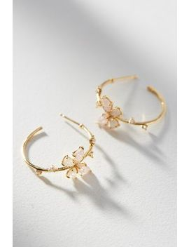 Floating Butterfly Hoop Earrings by Anthropologie