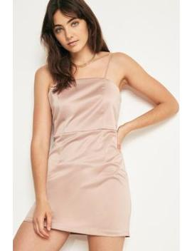 Uo Satin Mini Shift Dress by Urban Outfitters