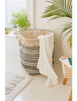 Mia Woven Fringe Laundry Bag by Urban Outfitters